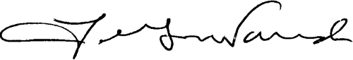 Lawrence G. Wasden signature